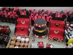 DIY - Decoração para mesa da Minnie - YouTube