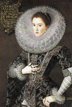 The Spanish painter, Juan Pantoja de la Cruz (1553-1608), was a portrait painter for the Spanish royal family - Dona Catalina de la Cerda, 1602.