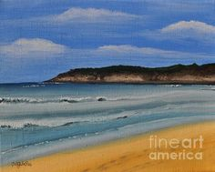 "I hope for some more beach time this summer. Relaxing Beach  8"" x 10"" Water Based Oil stretched canvas.   Unframed $120.00"