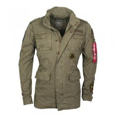 ALPHA Industries Herren Jacke Huntington Patch Olive (grün)
