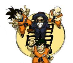 goku, yamcha, krillin, roshi #plur #peace #dragonball