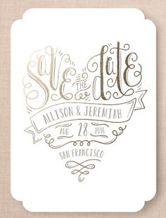 Save the Date design | @minted