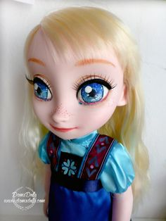 SALE Disney Animators Doll OOAK Elsa Frozen Repaint por DamsDolls