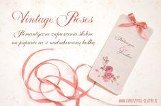 Invitation wedding. Vintage and eco. Składanka - Zaproszenia na każdą okazję: Vintage Roses - Zaproszenia Ślubne
