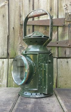 Cool Vintage 1945 Army Railway Lantern Lamp Light & Burner