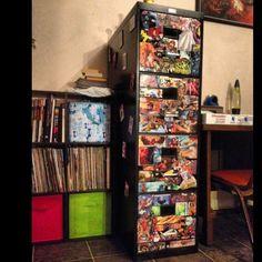 DIY Decoupage Comic Book Filing Cabinet!! Proud Of Myself! #diy #comicbook
