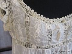 Antique Edwardian Embroidered LACE Night Gown Slip Chemise Philadelphia Estate Vintage Inspired Dresses, Vintage Dresses, Vintage Outfits, Vintage Fashion, Gauze Dress, Country Dresses, Heirloom Sewing, Mode Outfits, Vintage Lingerie