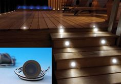 We have a few more stairs on our next deck, so some lights are in order. Love how these sit flush against the deck.