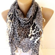 leopard scarf  scarf Shawl  cheetah print scarves by scarfstrends, $12.90