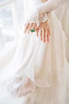 Vintage Lace and an Emerald Ring | Swooned