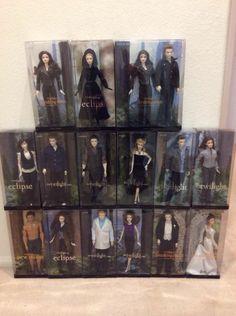 Twilight Saga Dolls by Mattel - I have Breaking Dawn Bella, Jasper, Emmet, Twilight Edward, Jacob and Carlisle