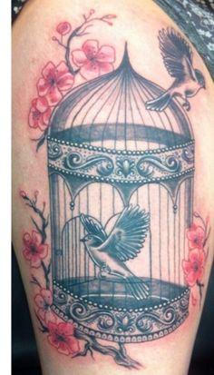 Birdcage tattoo.. adore this !!!