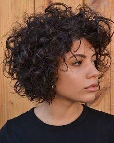 Haircut Short Natural Curls Bob Hairstyles 61 Ideas For 2019 Haircut Short Natural Curls Bob Hairstyles 61 Ideas For Short Natural Curls, Wavy Curls, Short Curls, Short Hair With Bangs, Curly Short, Big Curls, Curly Bob, Short Bobs, Wavy Bobs