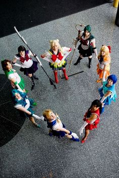 Sailor Moon Cosplay Group