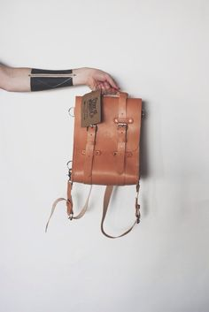 Image of Stock & Barrel Co. No. 18 Mini leather rucksack