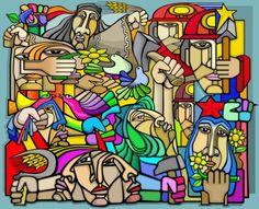 Table of Contents: Cuba Argentina Brazil Chile Cuba Cuba is endowed with a rich visual design history, in. Chili, Social Art, Harbin, Medium Art, Urban Art, Deco, Folk Art, Art Drawings, Art Gallery