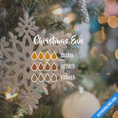 Christmas Eve — Essential Oil Diffuser Blend - New Ideas Essential Oil Scents, Essential Oil Diffuser Blends, Essential Oil Uses, Young Living Essential Oils, Doterra Diffuser, Doterra Essential Oils, Christmas Eve, Diffuser Recipes, Candles