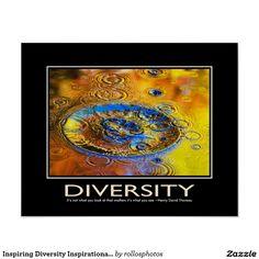 Diversity Inspirational Motivational Poster Art by Christina Rollo ...