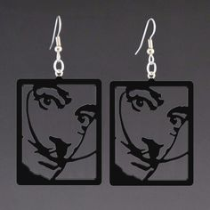 Salvador Dali corian earrings