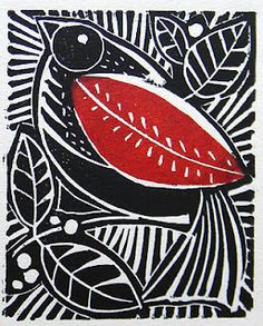 konfetti — ailailail: Bird and berries lino print by Mangle. Linocut Prints, Art Prints, Block Prints, Cerámica Ideas, Linoprint, Inspiration Art, Arte Popular, Art Plastique, Woodblock Print