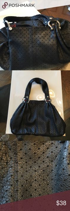 Gap 100% authentic leather star print bag 100% authentic all black leather star print shoulder bag. This is from the Gap and looks brand new inside and out. Worn once. All silver hard wear GAP Bags Shoulder Bags