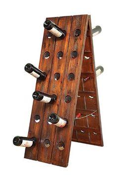 I could make something similar.  Amazon.com - Creative Coop Wormwood Floor Wine Rack - Free Standing Wine Racks
