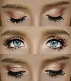 The right fake lashes can look like natural wedding makeup when done right! #weddingmakeup