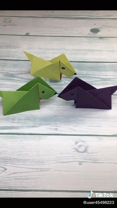 Paper Folding Crafts, Easy Paper Crafts, Paper Crafts Origami, Easy Felt Crafts, Fun Diy Crafts, Hand Art Kids, Instruções Origami, Origami Animals, Art N Craft