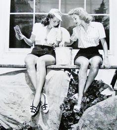 Jinx Falkenburg and Evelyn Keyes for Nine Girls, 1944