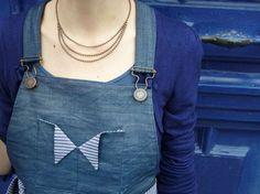 Jupe salopette à noeud(noeud) par Mousse - thread&needles