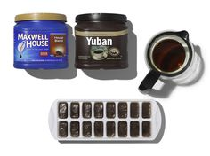 Coffee, Cubed – Don't dump your leftover cup of joe! Pour cooled coffee into ice cube trays and freeze. Then, add to your favorite iced coffee recipe. #PinThatTwist