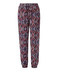 Red Pattern (Red) Red Tribal Print Joggers   305497869   New Look