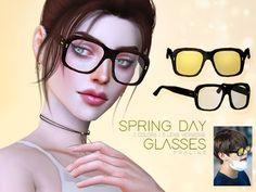 The Sims 4 Mody: Okulary w 15 wersjach od Pralinesims
