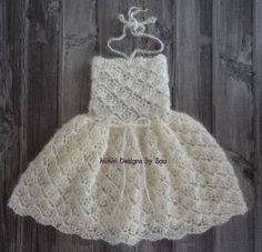 PDF Crochet Pattern  SITTER 6-12 months size by monkeymoomoo33 Newborn Crochet Patterns, Crochet Baby Dress Pattern, Knit Baby Dress, Crochet Photo Props, Crochet Accessories, Kids Fashion, 12 Months, Flower Girl Dresses, Baby Rompers