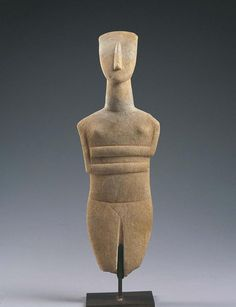 Female Figure , Bastis Master Greek, Cyclades Islands Early Cycladic II phase c… Ancient Egyptian Art, Ancient Aliens, Ancient Greece, Ancient History, Ancient Goddesses, Art History, European History, American History, Idole