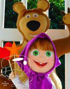 Boneca Masha de Masha e o Urso com molde e passo a passo