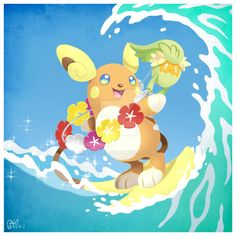 Alolan Raichu and Comfey by AlouNea on DeviantArt