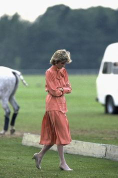 June 20, 1985: Diana at Guards Polo Club, Smiths Lawn, Windsor after Royal Ascot.