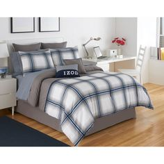 Have to have it. IZOD Oxford Plaid Comforter Set - $99.99 @hayneedle