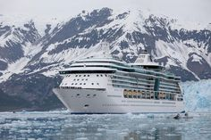 Radiance of the Seas cruising in Alaska.