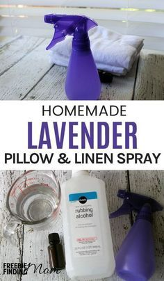 Need help sleeping better? Maybe you just want to freshen your pillows, blankets, etc. This tutorial for how to make linen spray can help you do both. This homemade lavender linen spray recipe is an easy and inexpensive way to naturally deodorize and effe Homemade Cleaning Products, House Cleaning Tips, Cleaning Hacks, Diy Hacks, Natural Cleaning Recipes, Household Products, Green Cleaning Recipes, Baby Products, Limpieza Natural