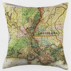 Louisiana Map pillow cover- $49