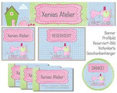 Shopbanner-Visitenkarte-Geschenkanhänger-Banner von XENiAS ATELiER auf DaWanda.com