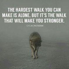 The hardest walk...