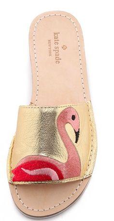 Fun flats! Gold flamingo - Kate Spade shoes