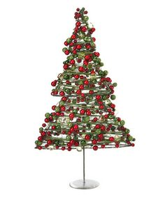 Look at this #zulilyfind! Metallic Christmas Tree Figurine #zulilyfinds