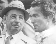 Del Mar Racetrack: Johnny Longden (l) congrats Bill Shoemaker (r) who broke his record for winners on Labor Day, 1970.