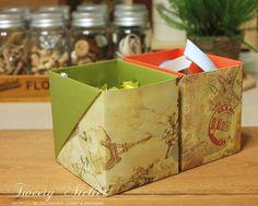종이접기/상자접기~접착제도 필요없는..A4한장으로 속 깊은 상자접기 : 네이버 블로그