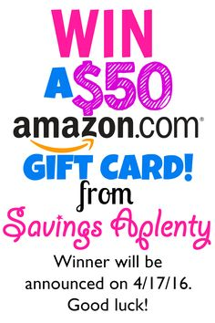 WIN a $50 Amazon Gift Card - Easy Entry!