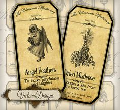Christmas Apothecary Bottle Labels Jar Labels by VectoriaDesigns, $3.95